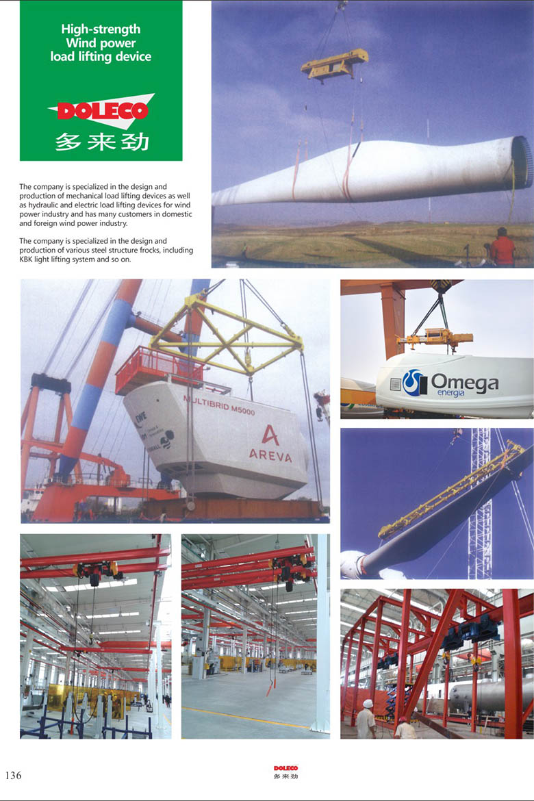 Wind power load lifting device